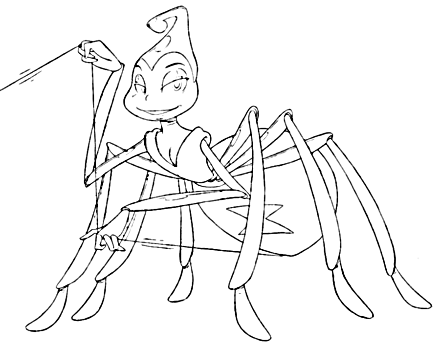 It's just an image of Smart Spider From Bugs Life