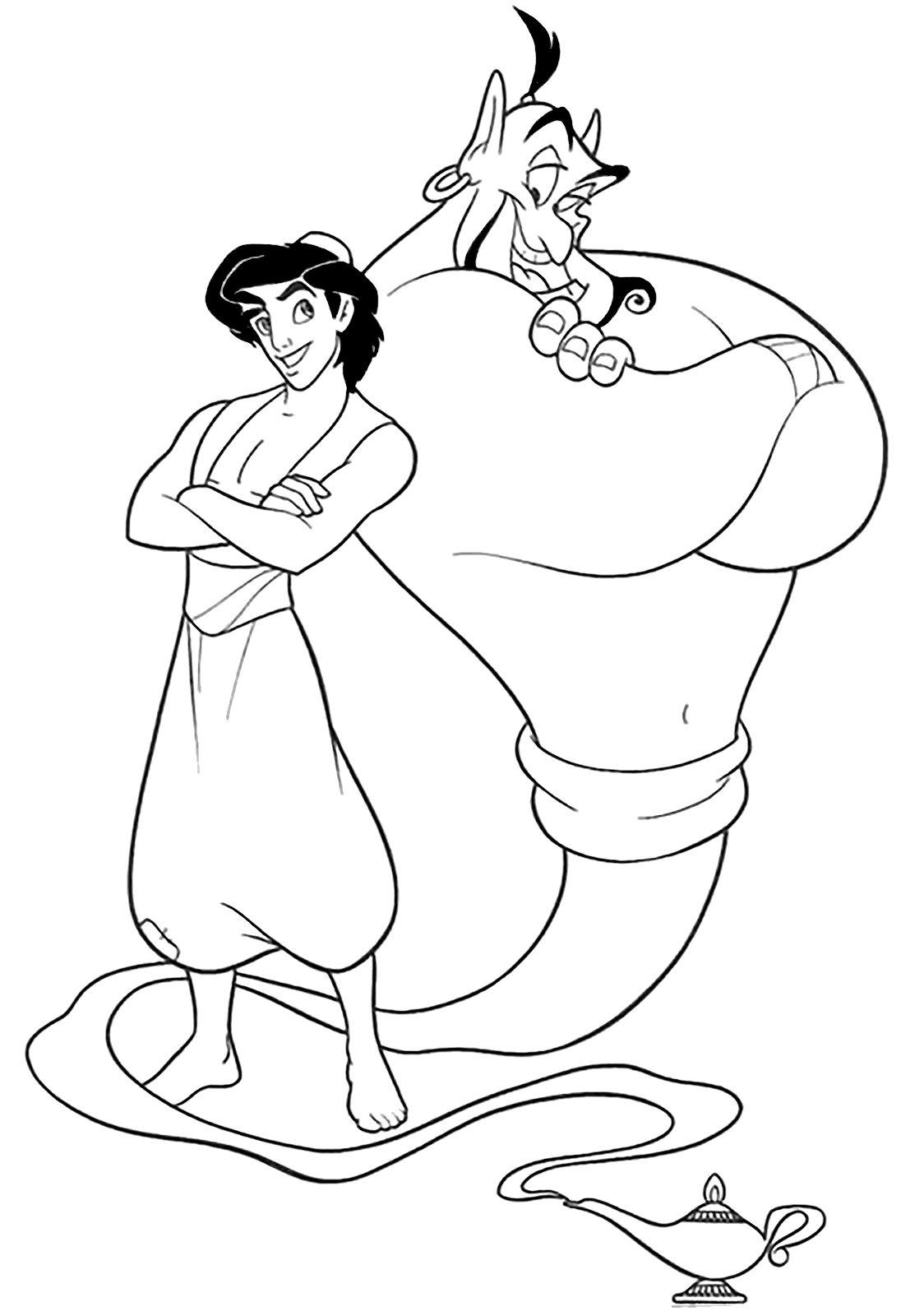 Aladdin - Aladdin and the genius of the lamp