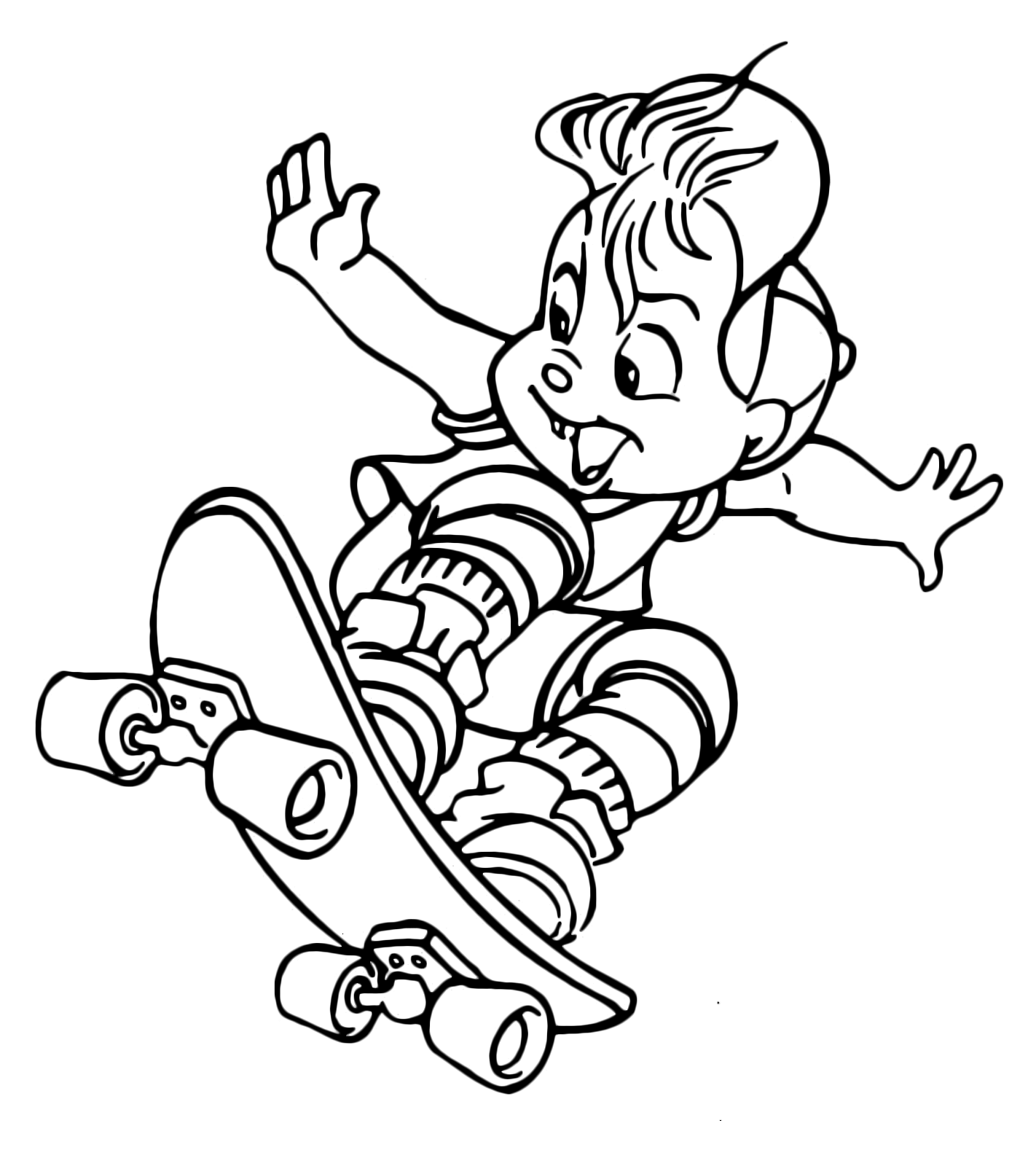 Alvin And The Chipmunks Alvin Jumping With Skateboard