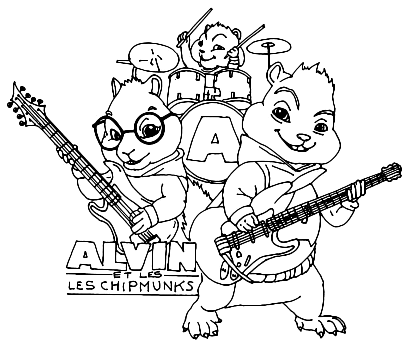 Alvin and the Chipmunks - Alvin Simon and Theodore playing ...