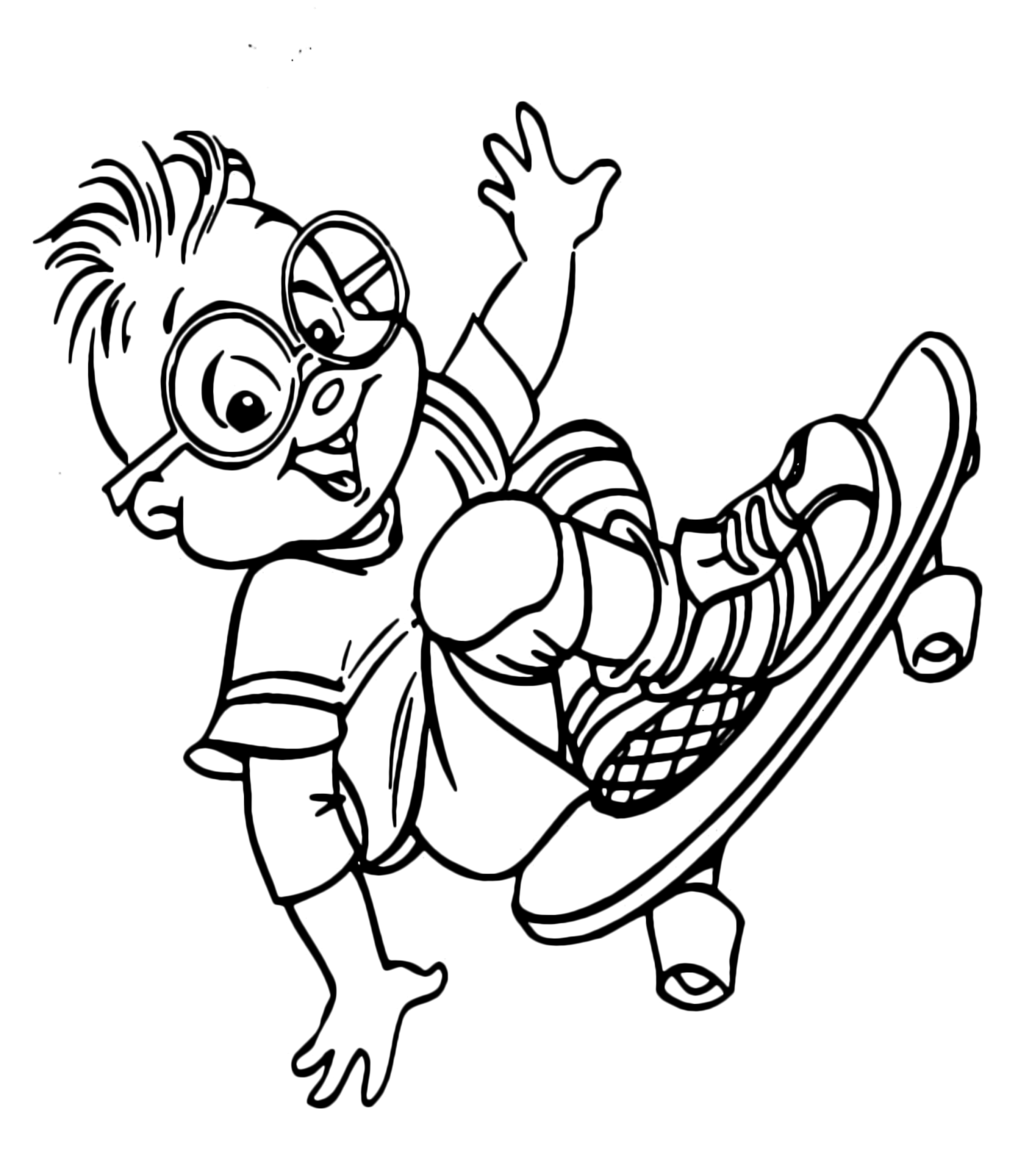 Alvin And The Chipmunks Coloring Pages Simon. top 25 free printable ...