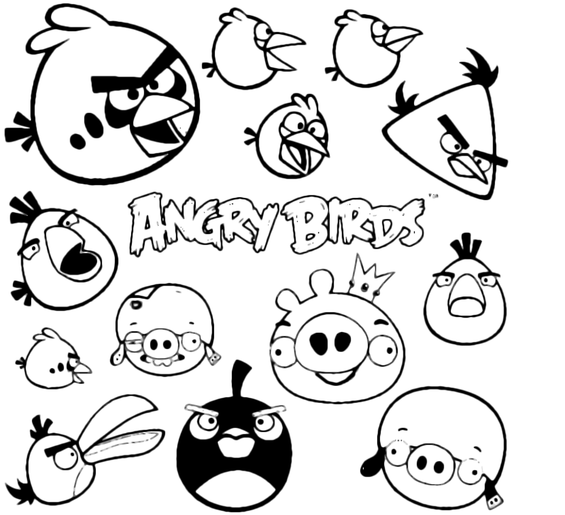 Quot Angry Birds Quot Coloring Pages