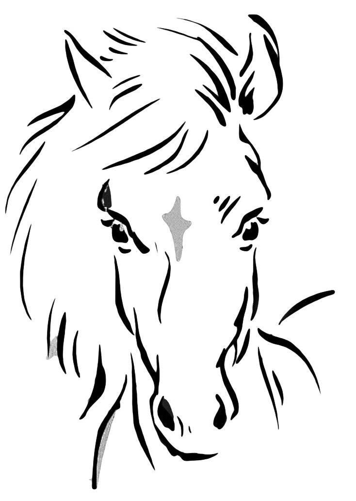 Horse Head Coloring Page - GetColoringPages.com | 1033x734