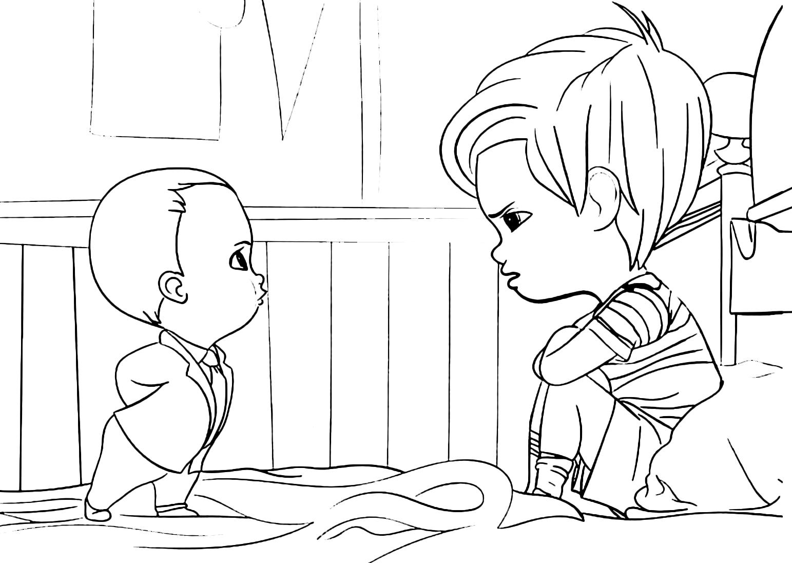 Baby Boss - Baby Boss and Tim speak in the bedroom
