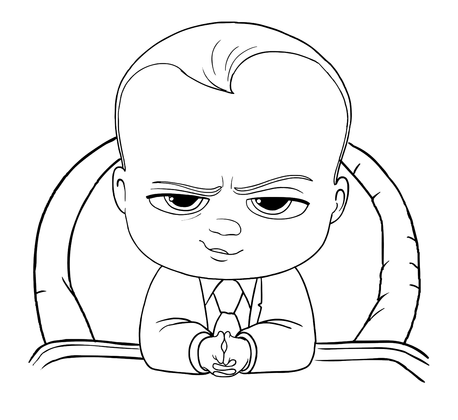 Baby Boss Coloring Pages
