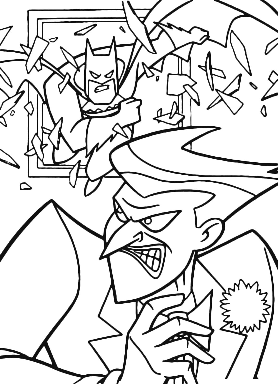 Joker Da Colorare.Batman Batman Tries To Capture Joker