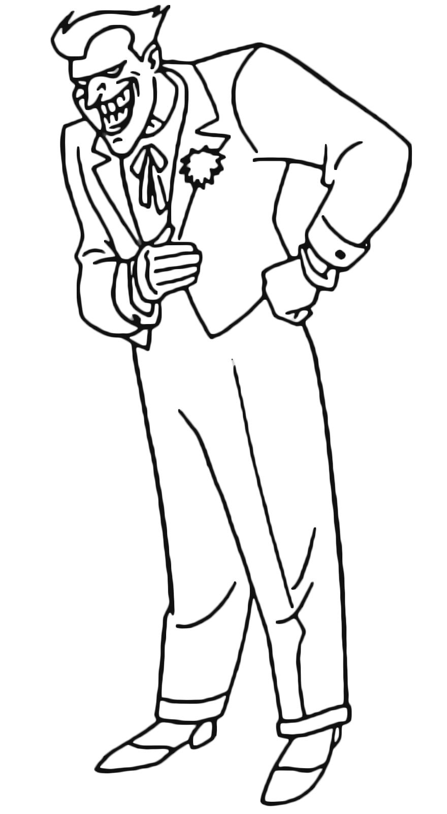 Joker Da Colorare.Batman Joker The Perfidious Enemy Of Batman