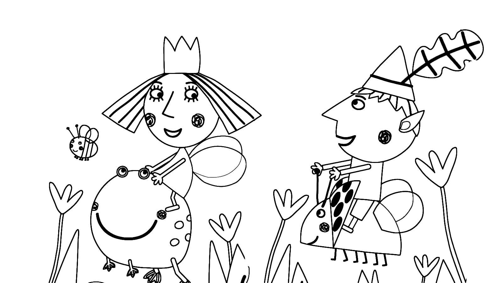 ben  holly's little kingdom  ben and holly in the middle