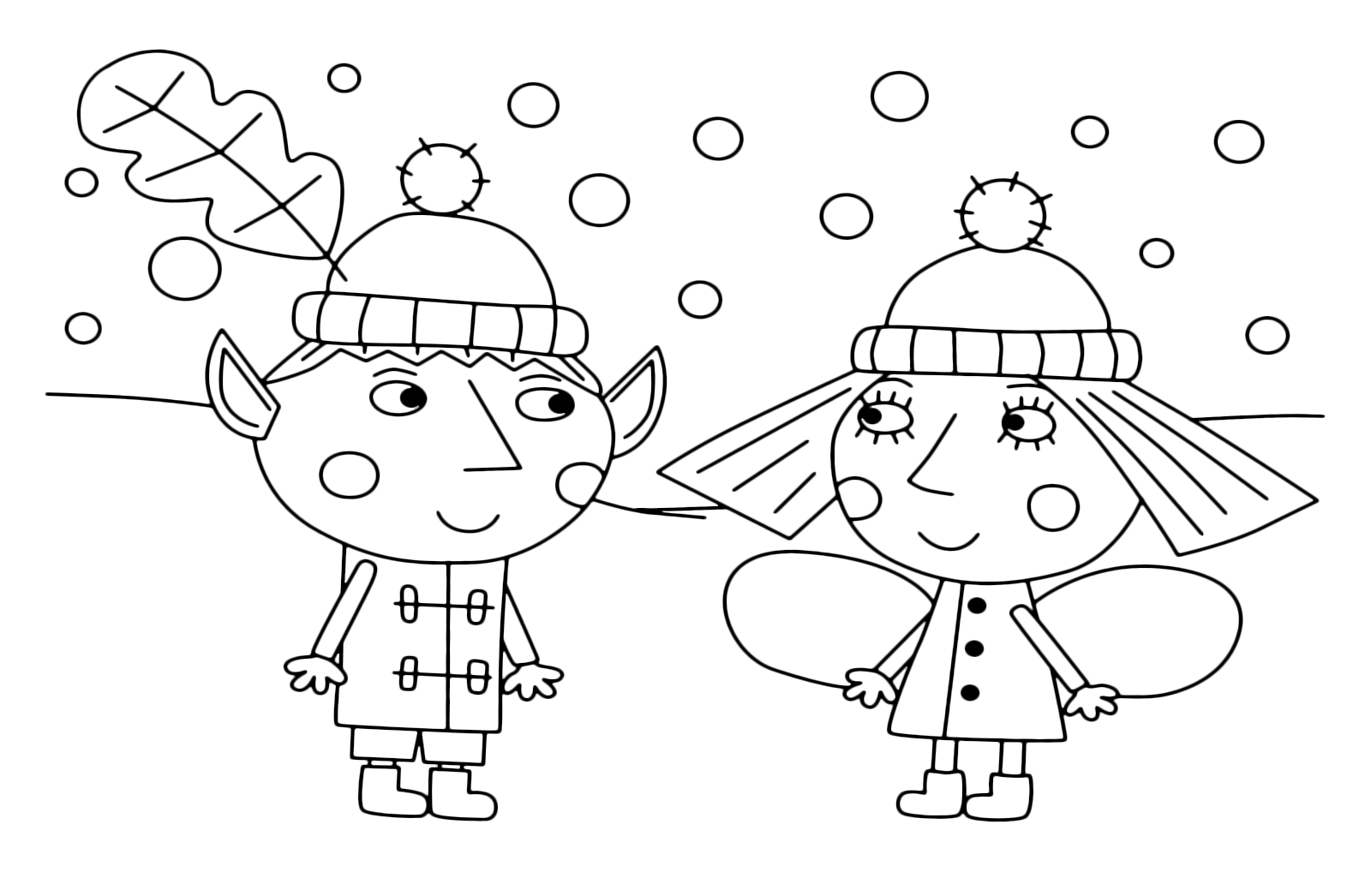 Ben Holly S Little Kingdom Ben And Holly Together As The Snow Falls