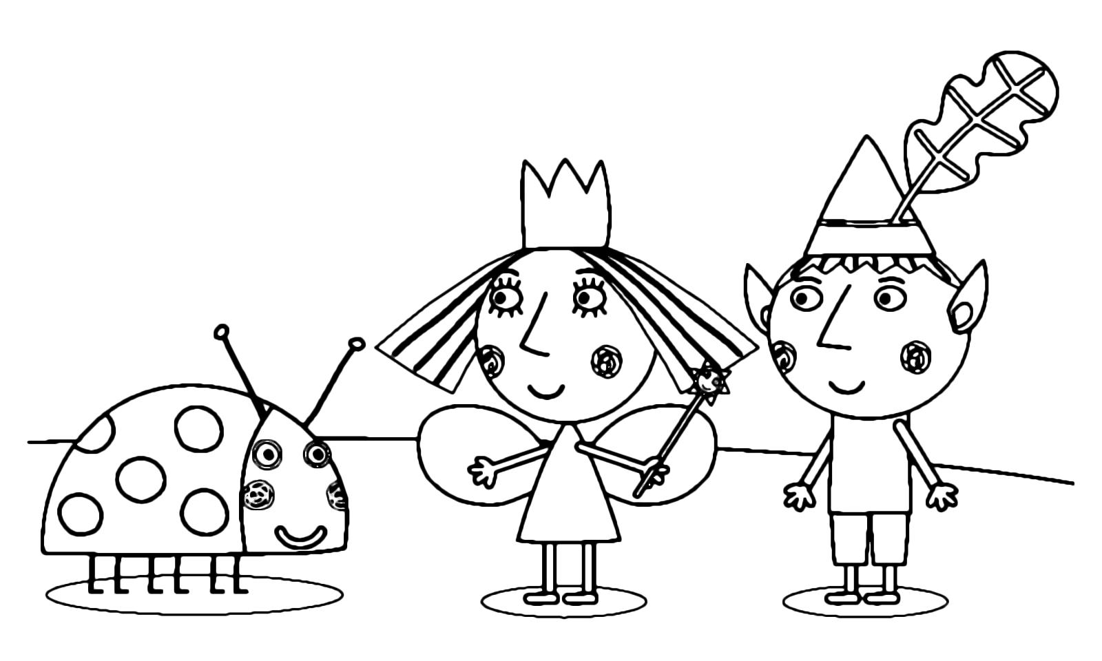 Dibujos De Ben Y Holly Para Colorear Imprimir: Ben & Holly's Little Kingdom