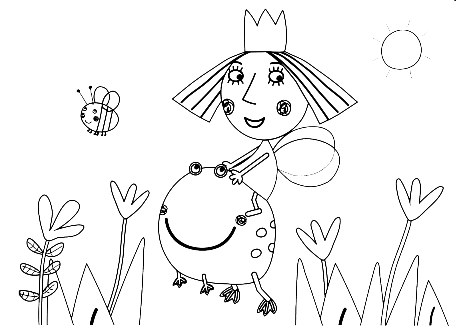 ben and holly s little kingdom coloring pages - ben holly 39 s little kingdom princess holly on the back