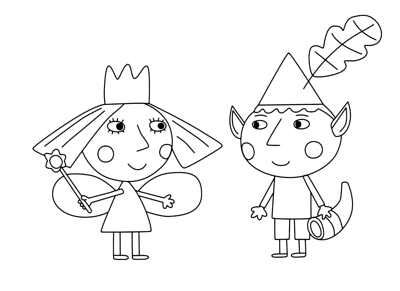 """Ben & Holly's Little Kingdom"" coloring pages"