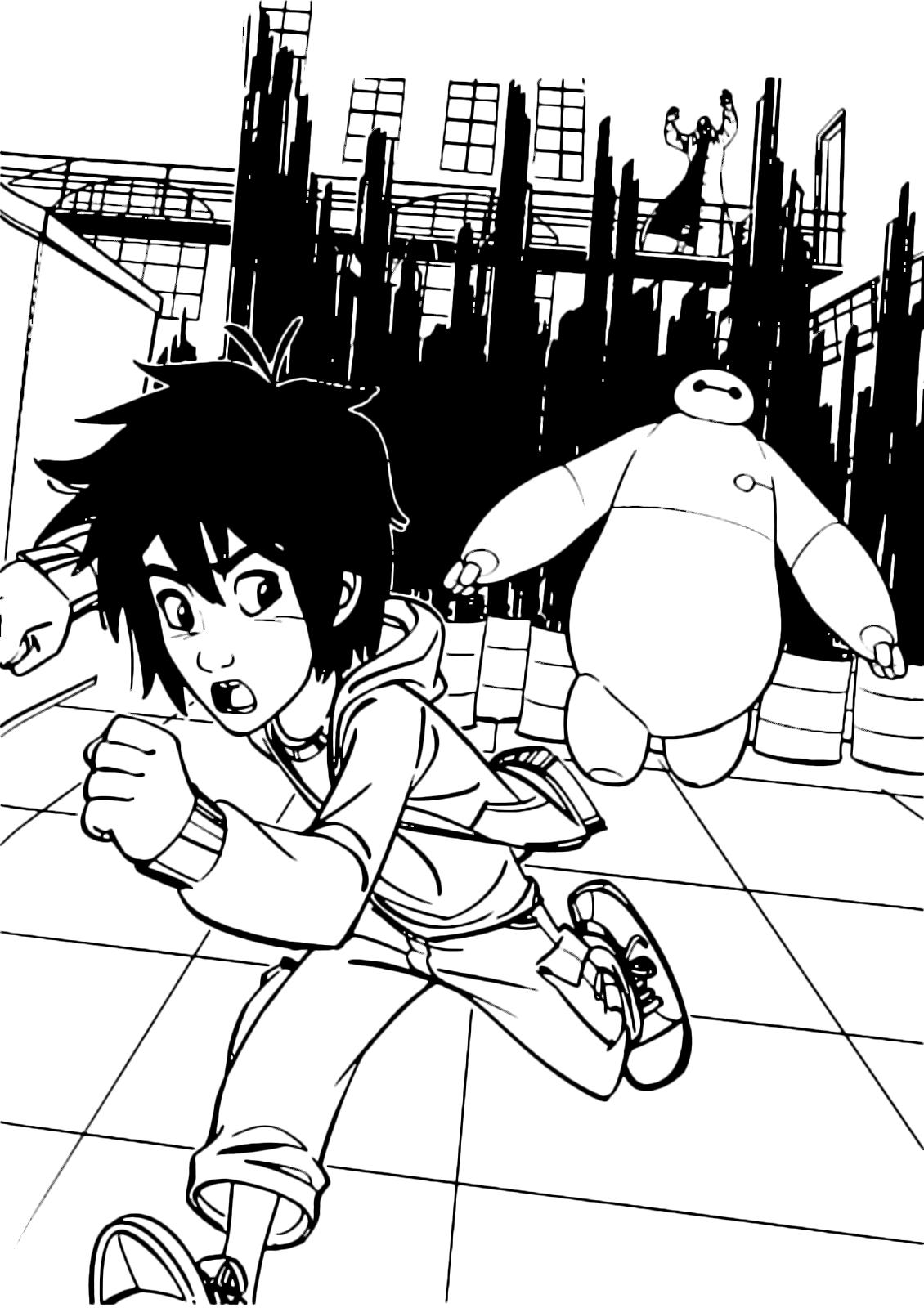 Big Hero 6 Hiro And Baymax Run Away From Microbot Controlled By Yokai
