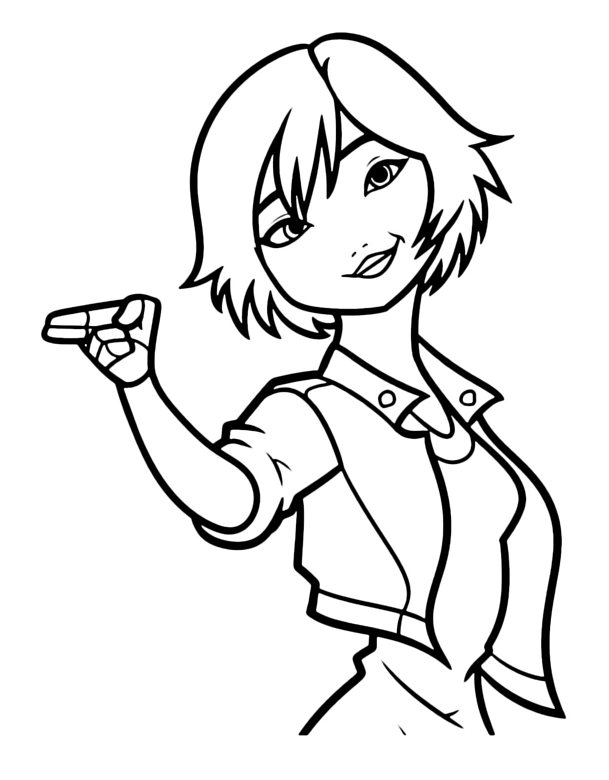Big Hero 6 Characters Gogo Tomago Coloring Page | Big hero 6 ... | 1600x1249