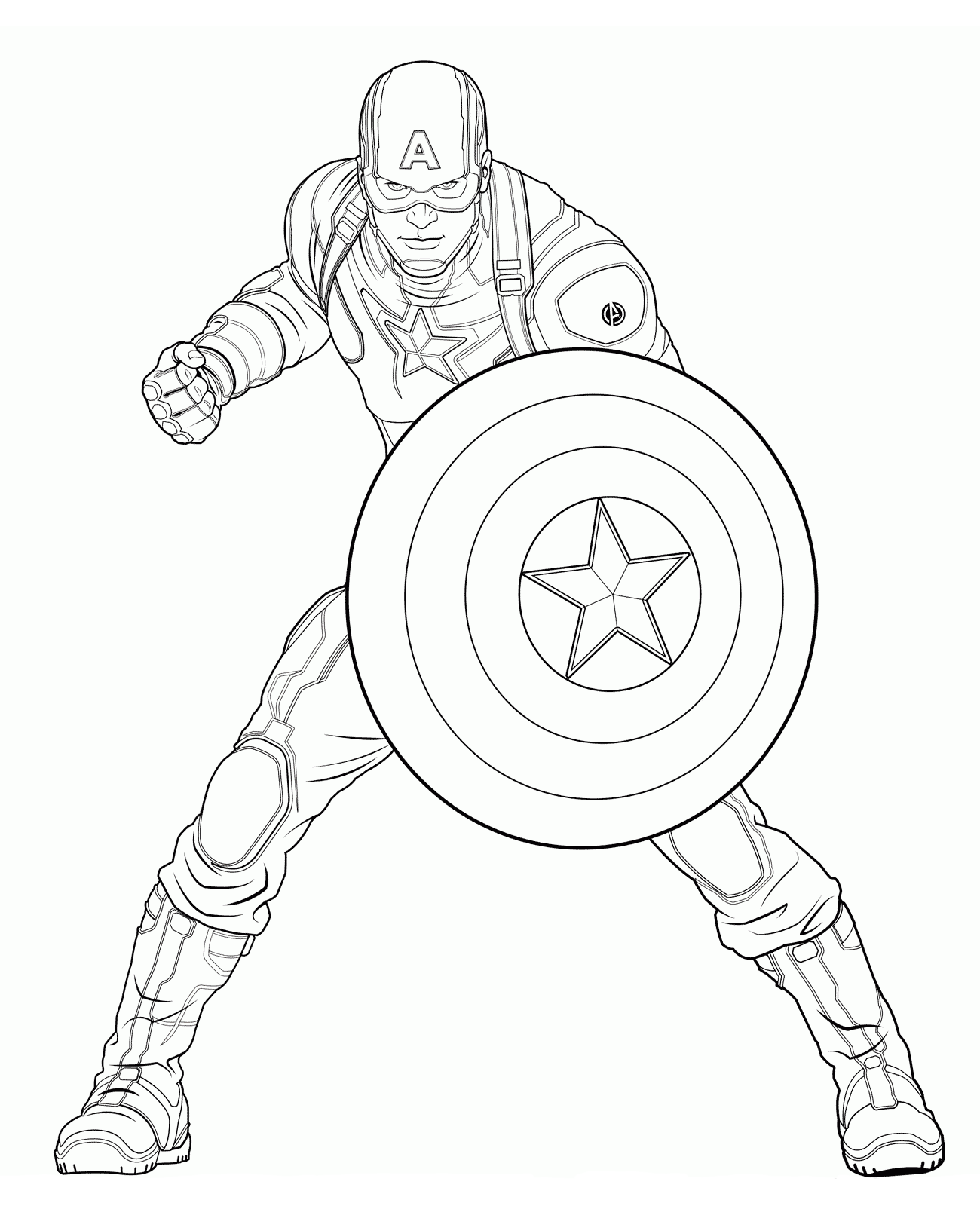 Quot Captain America Quot Coloring Pages