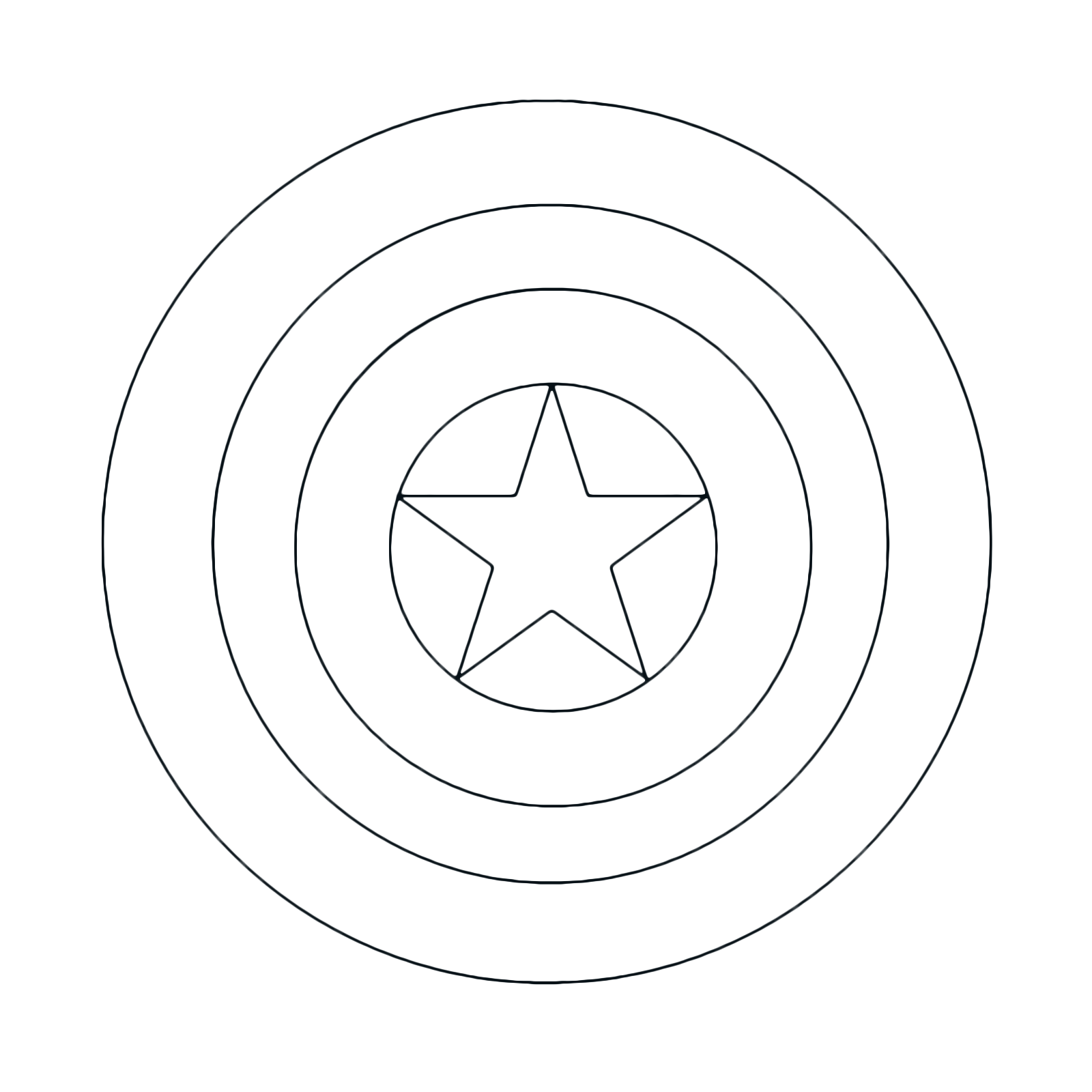 It's just a picture of Monster Captain America Shield Printable