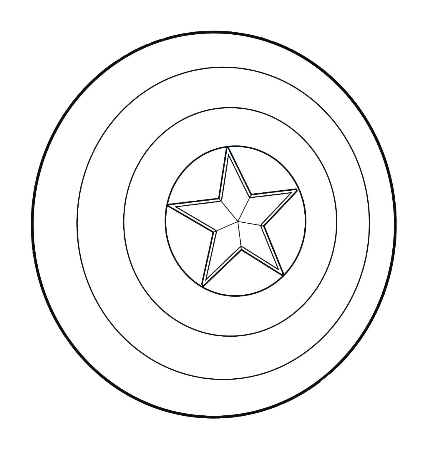 This is a graphic of Sweet Captain America Shield Printable