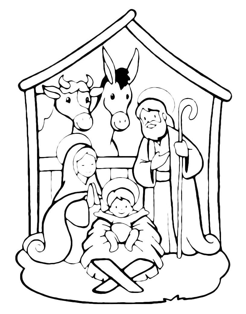 Christmas - Birth of Jesus in the stable
