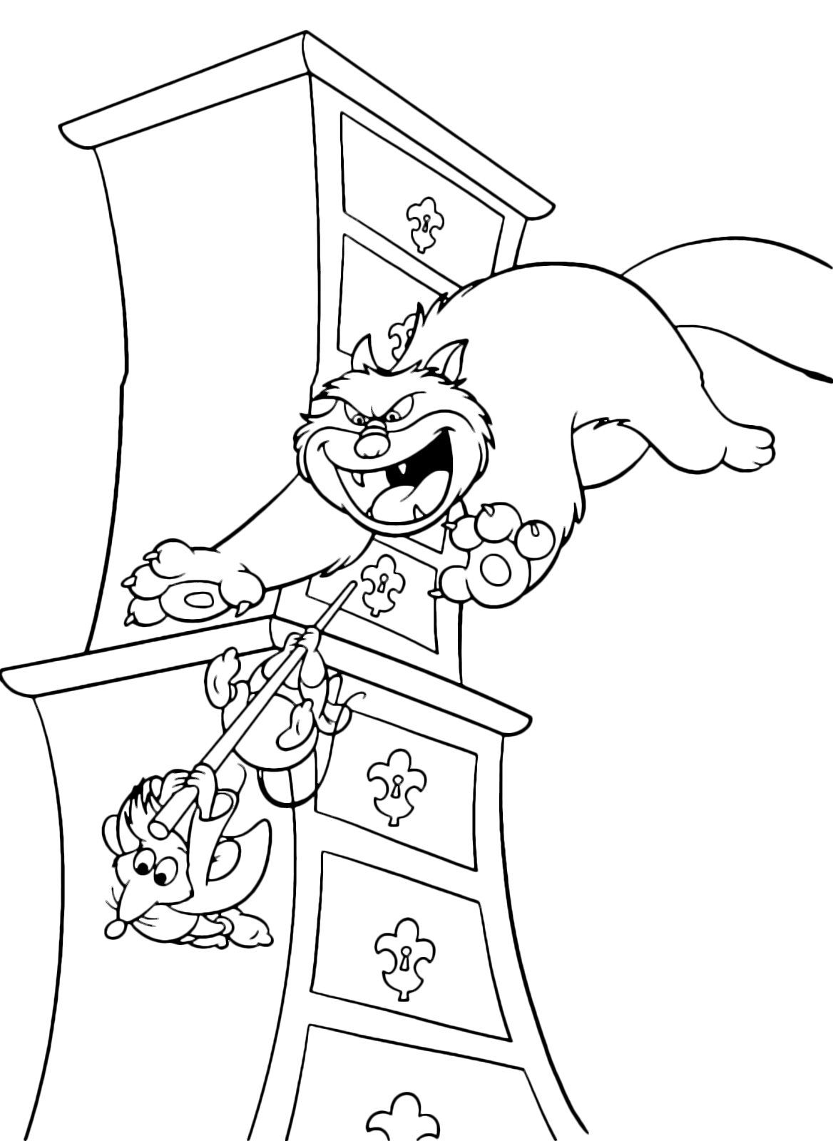 Cinderella Coloring Page Jaq And Gus Escape From Lucifer