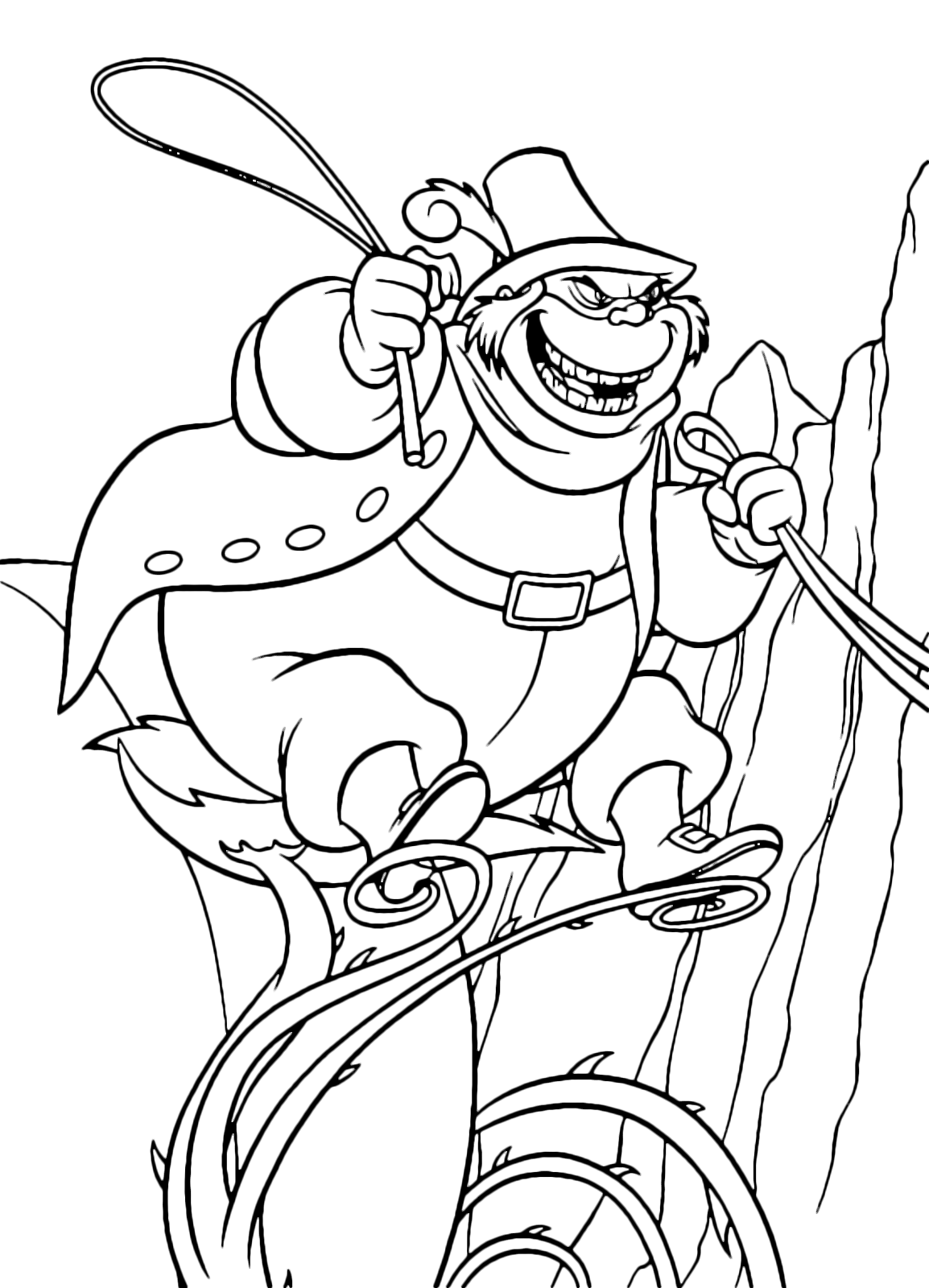 Cinderella Coloring Page The Evil Lucifer