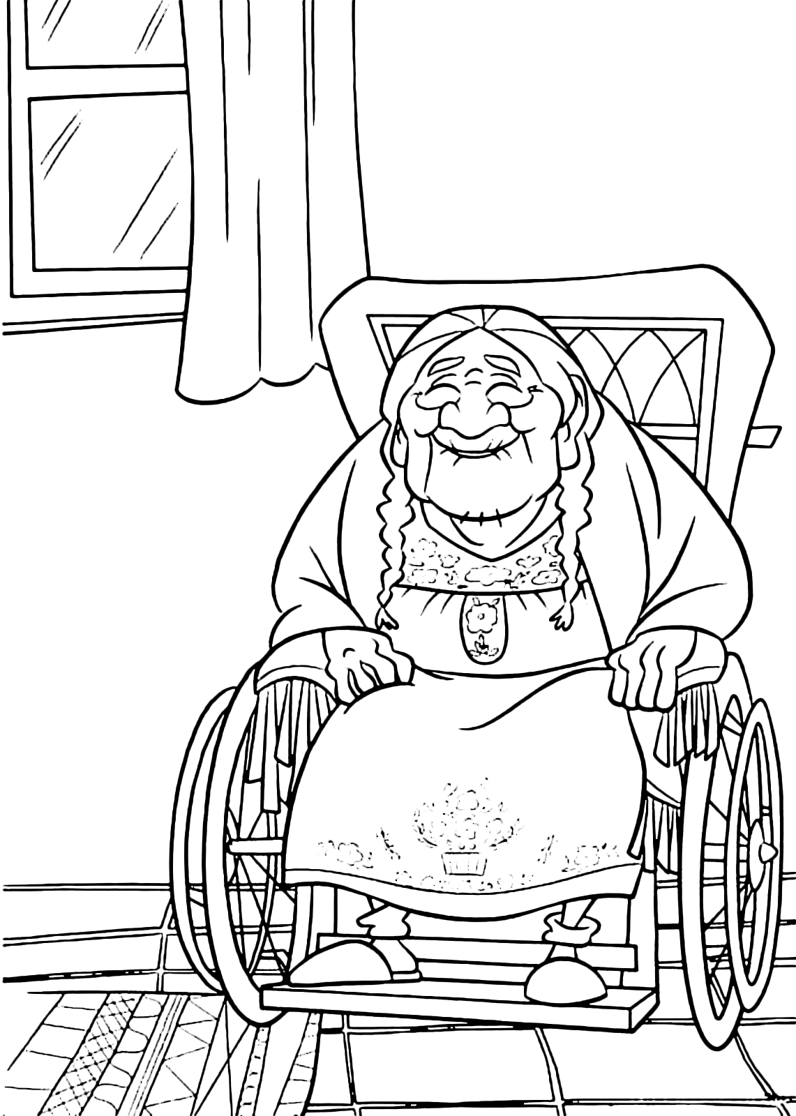 coco coloring page coco the great grandmother of miguel - Coloring Page Coco