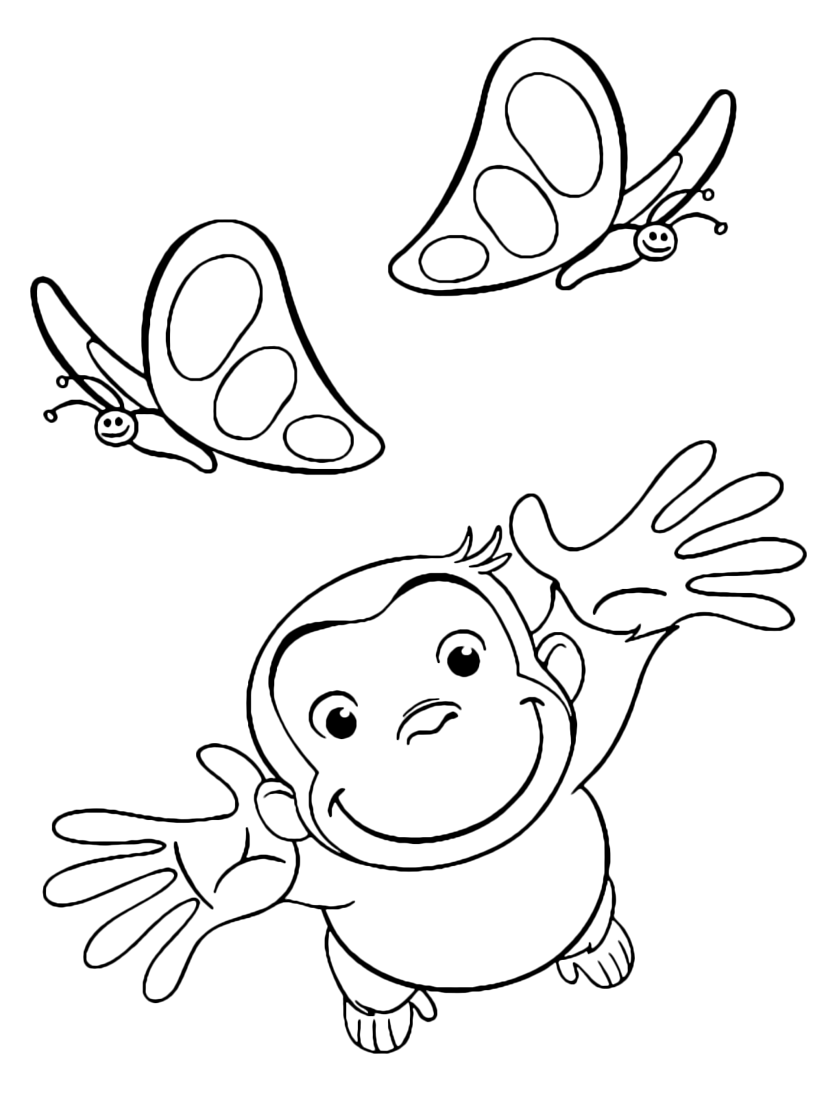 Curious George - George tries to catch the butterflies
