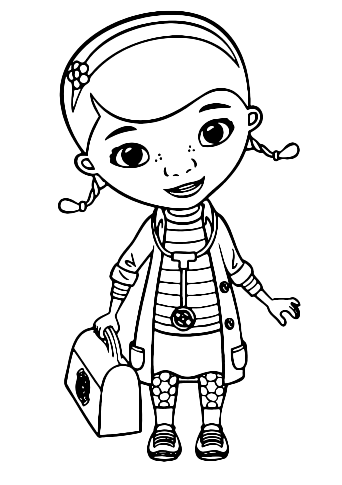 Doc McStuffins - Dottie Doc McStuffins with her bag and the stethoscope