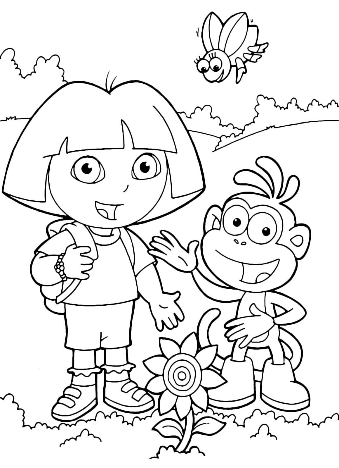 Dora the Explorer - Dora and Boots found a flower