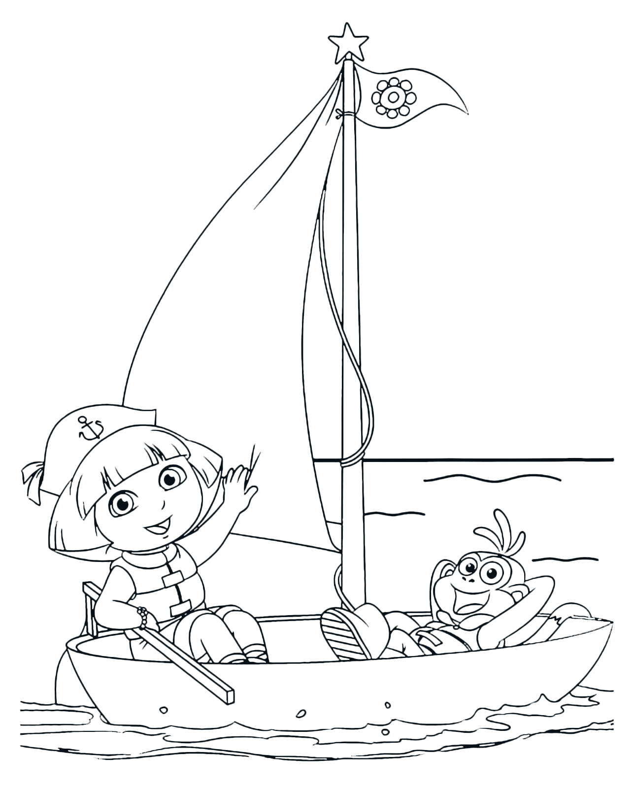 Dora the Explorer - Dora and Boots on the sailboat