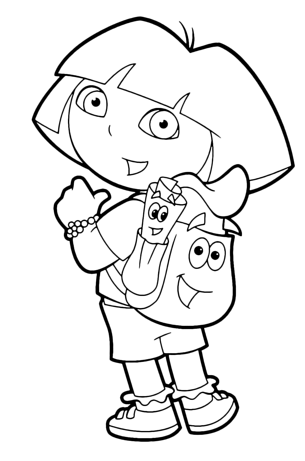 Dora the Explorer - Dora points Backpack and Map Dora Backpack With Map on