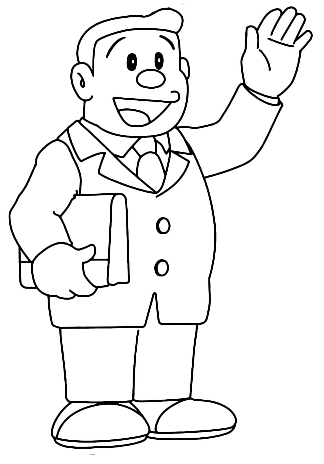 Doraemon Nobita S Father Greets