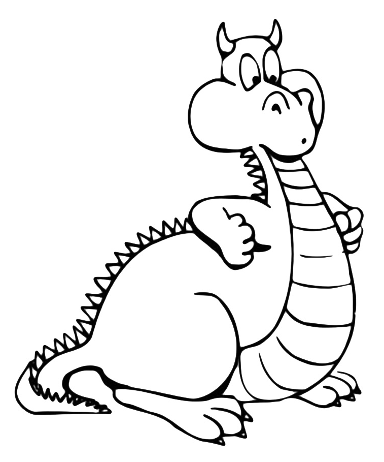 """""""Dragons"""" coloring pages"""