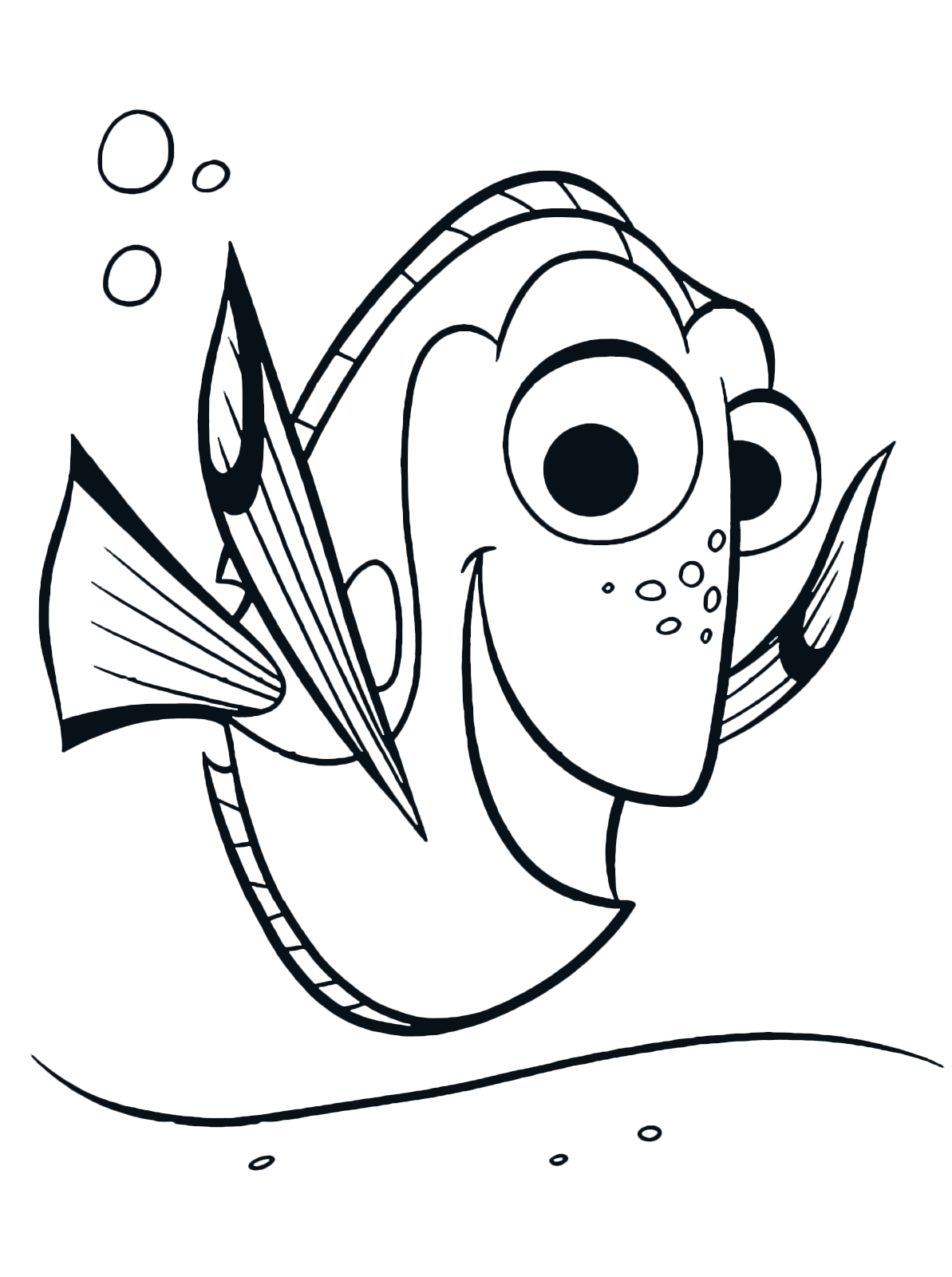 quot Finding Dory quot coloring pages