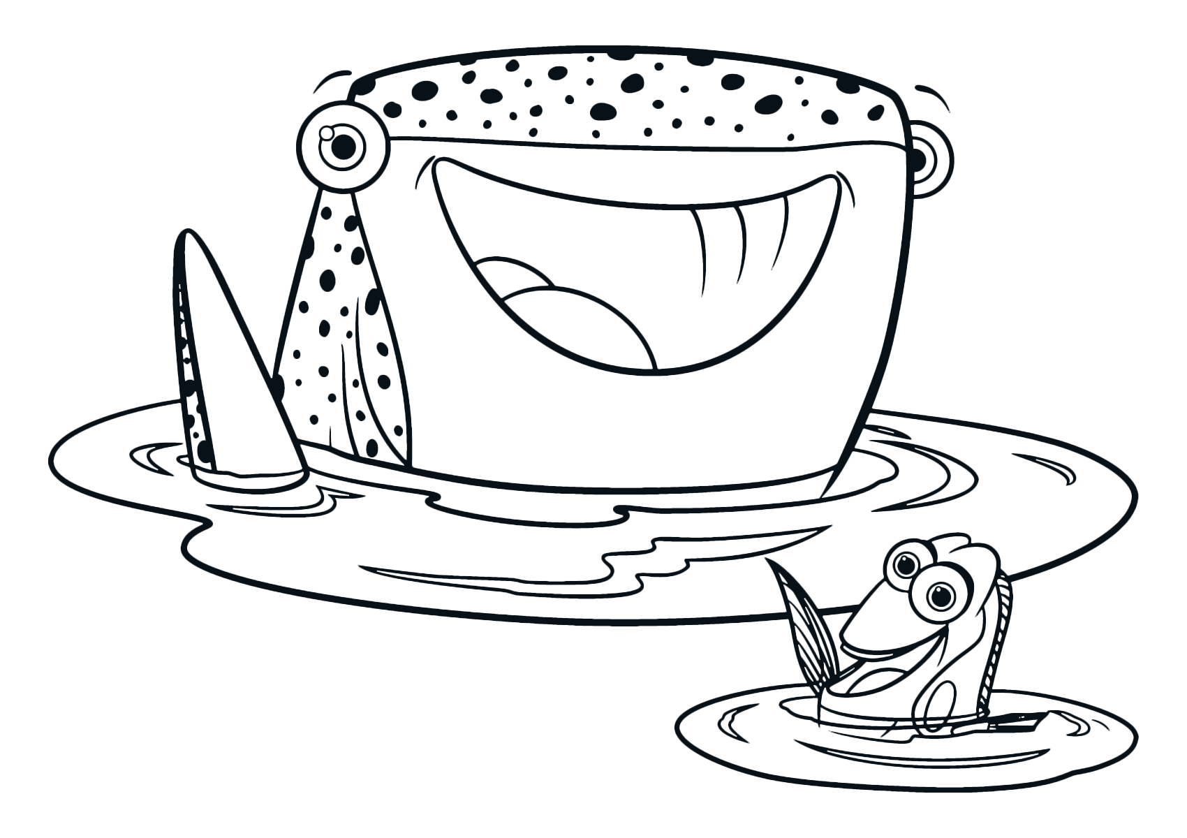 Coloring pages for dory - The Regal Blue Tang Dory And The Whale Shark Destiny Greet