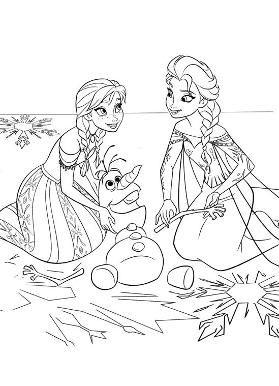 Elsa E Anna Frozen Da Colorare
