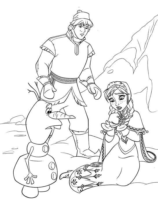 Frozen Kristoff And Olaf Watching Anna S Hair Now White