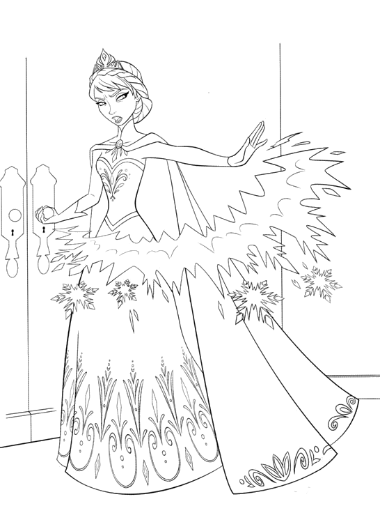 Quot Frozen Quot Coloring Pages