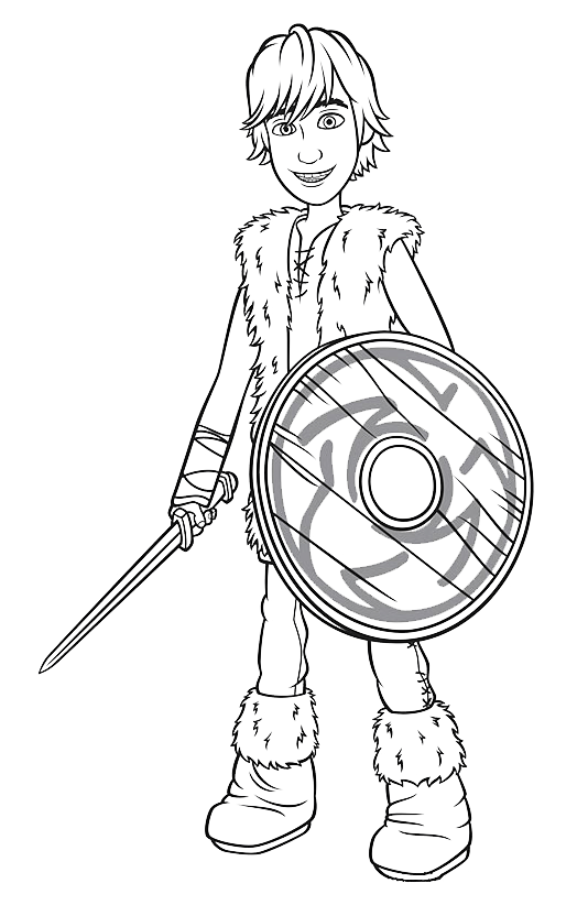 How to Train Your Dragon - Hiccup with sword and shield