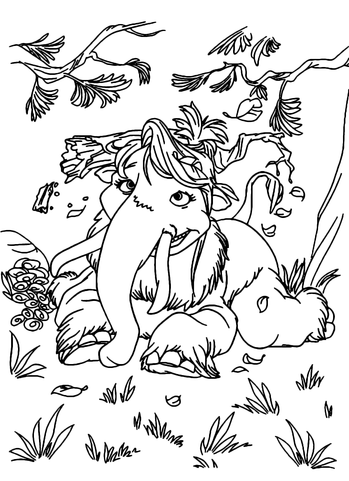 Attractive Ice Age Peaches Coloring Pages Adornment - Resume ...