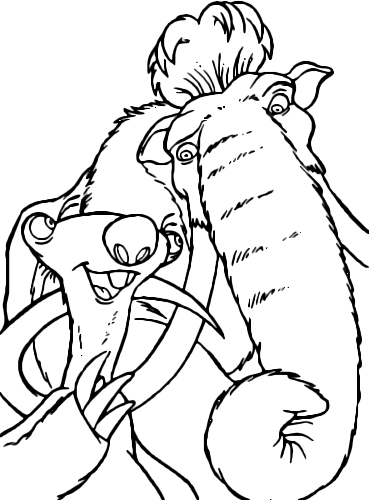 Ice Age - Sid the sloth speaks with Manny the mammoth