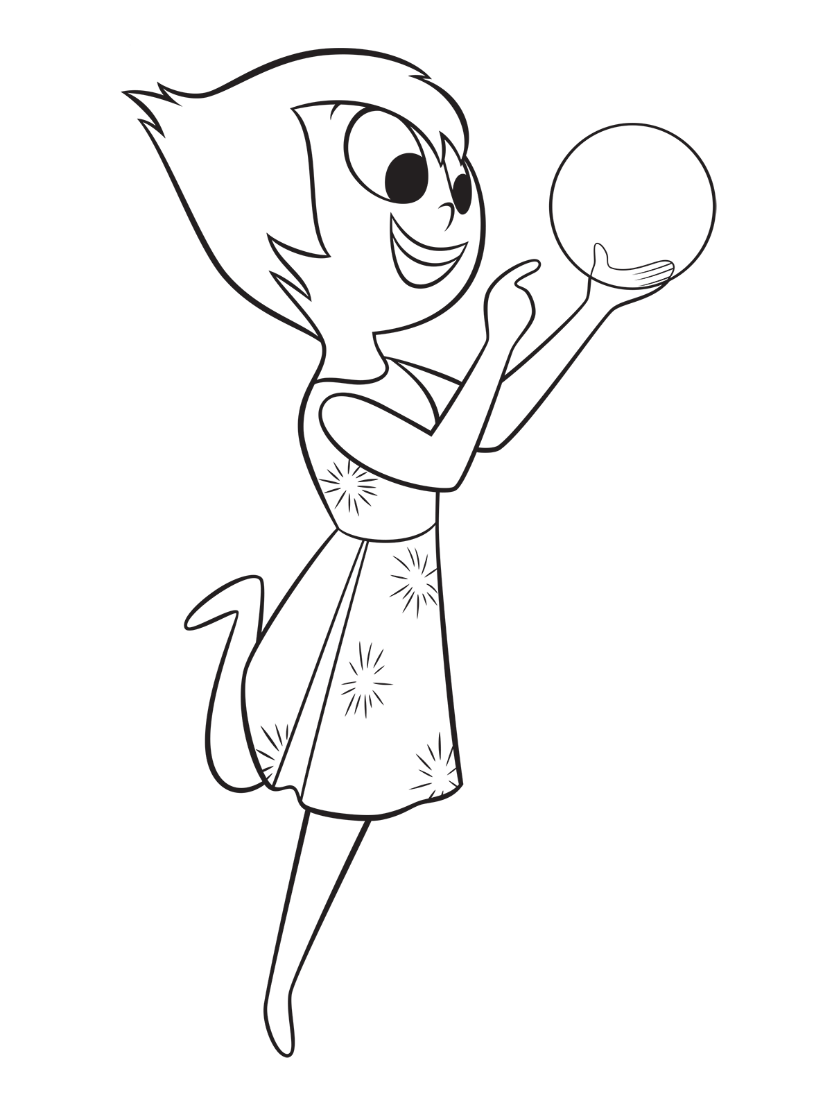 Inside out coloring pages riley -  Inside Out Coloring Page Joy Holds A Sphere Of Riley S Memories