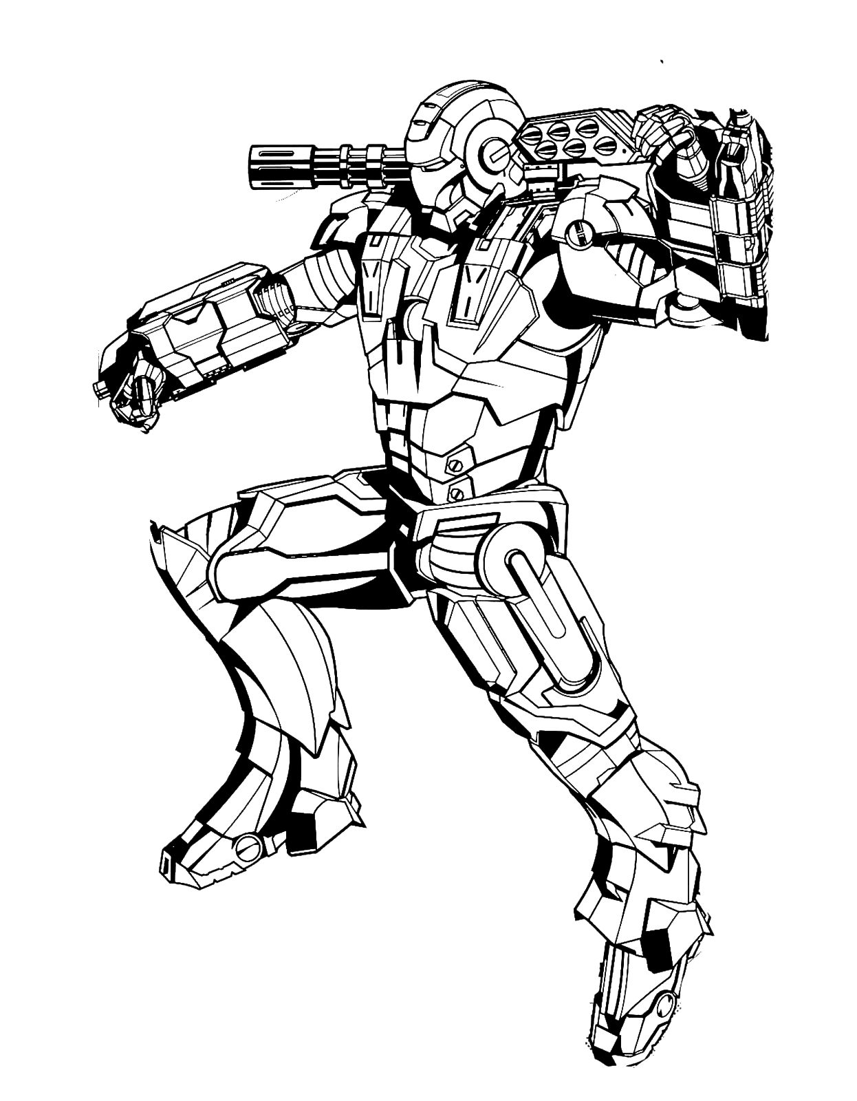 The Iron Man Armor Enhanced With Machine Gun And Missiles