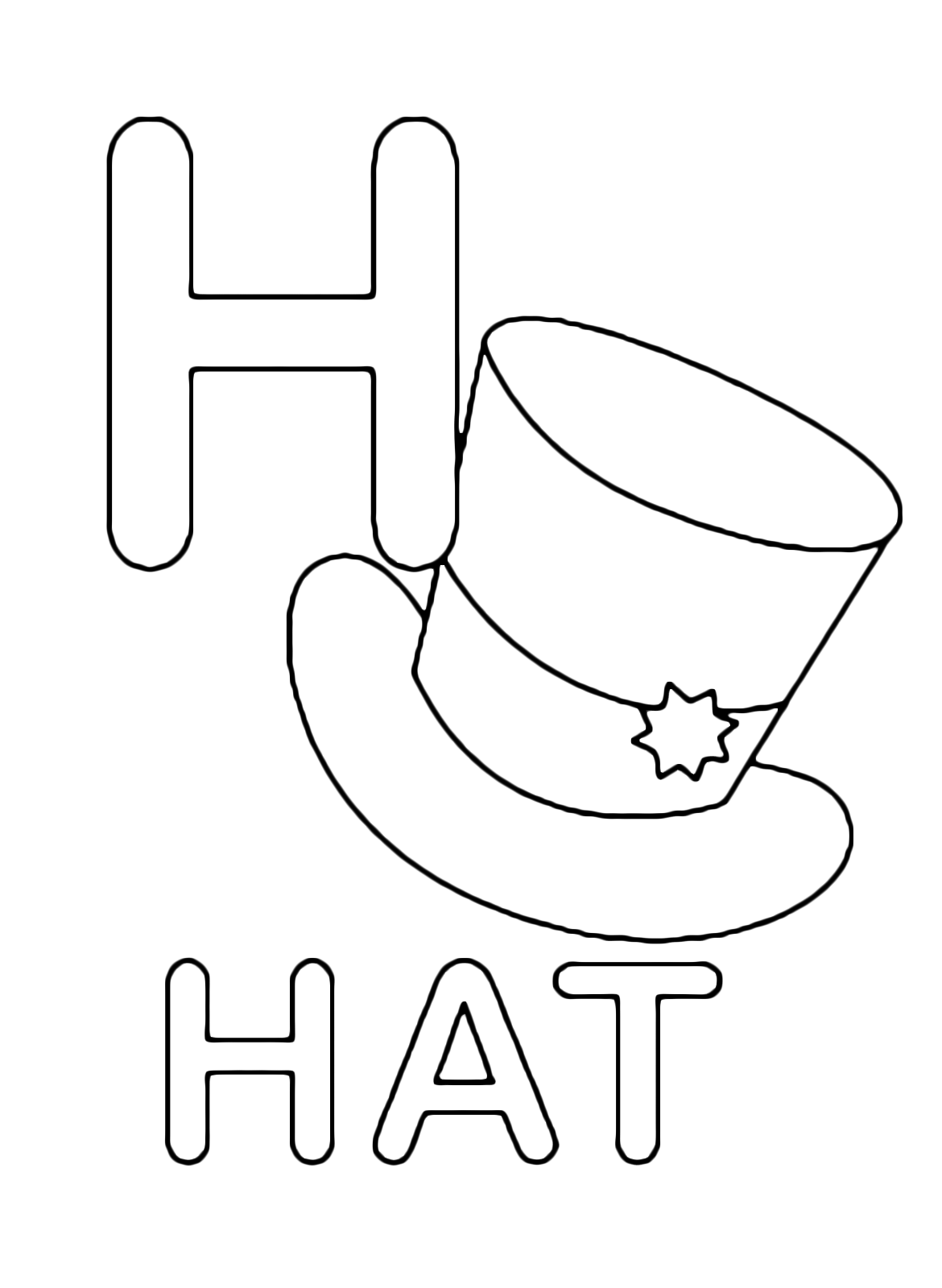 Letters And Numbers H For Hat Uppercase Letter