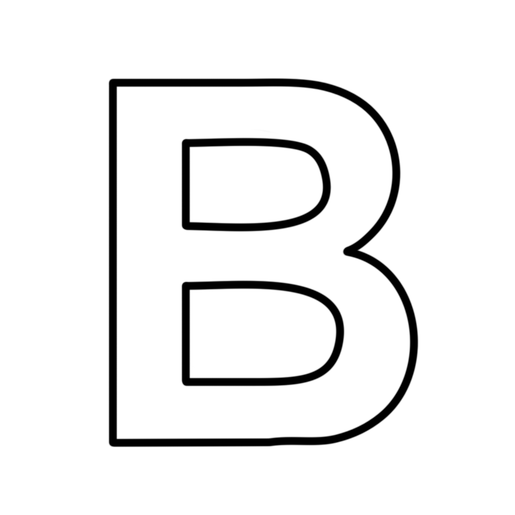 Letters and numbers   Letter B block capitals