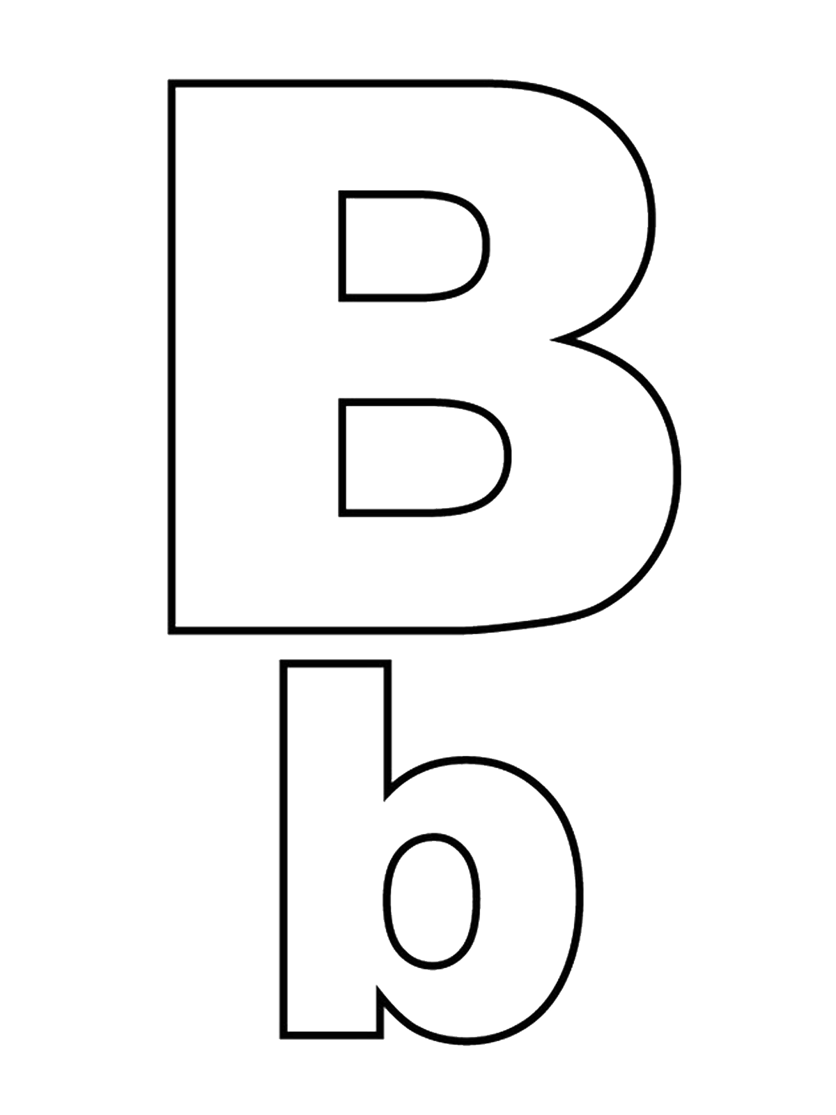 Letters and numbers - Letter B capital letters and lowercase