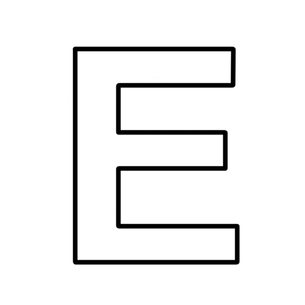 e block letter letters and numbers letter e block capitals 21427 | letter e block capitals
