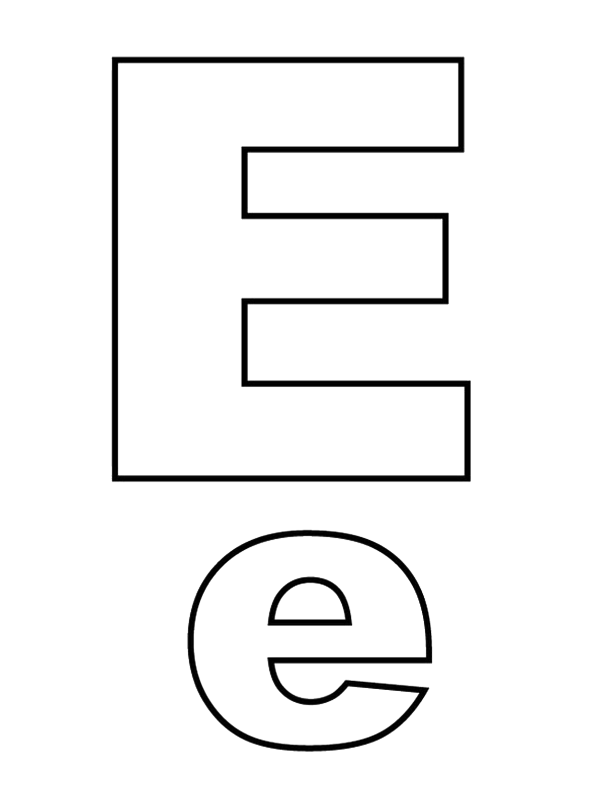 Letters and numbers   Letter E capital letters and lowercase
