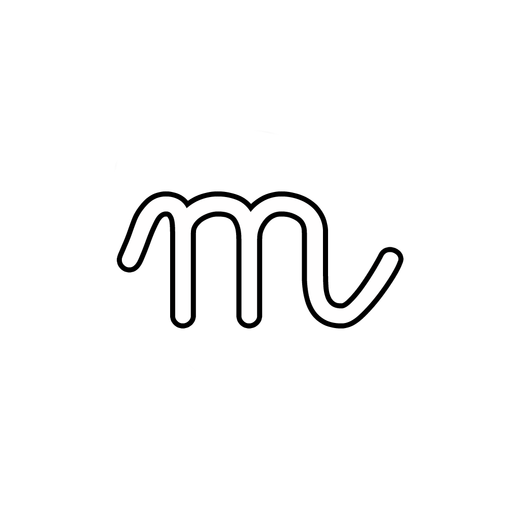 letters and numbers letter m lowercase cursive