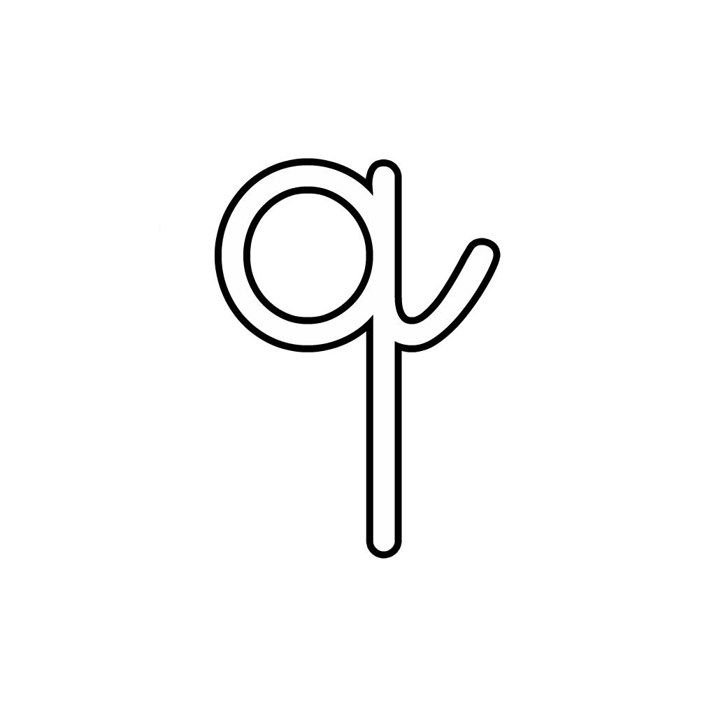 Letter Q Lowercase Cursive