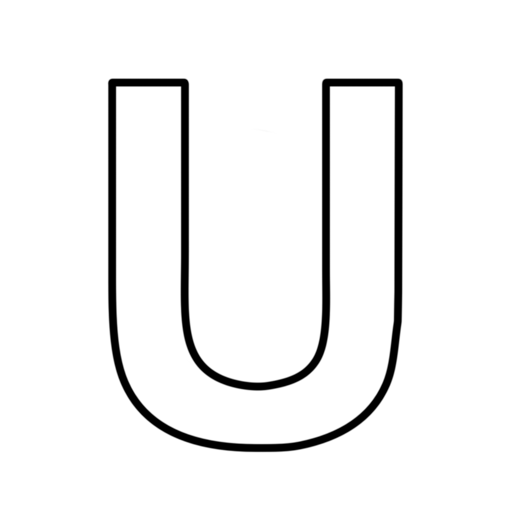 Letters And Numbers Letter U Block Capitals